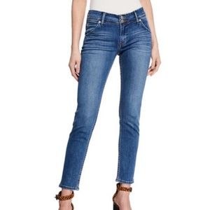 Hudson Collin Skinny Ankle Mid Rise Blue Jeans